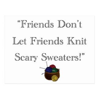¡Suéteres asustadizos! Tarjetas Postales