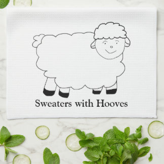Suéteres con los enganches toalla de mano
