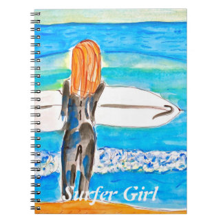 Sufer Girl Notebook