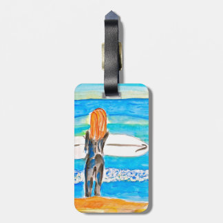 Sufer Girl Tag For Luggage