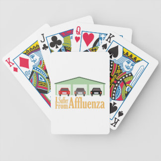 Suffer From Affluenza Bicycle Playing Cards