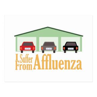 Suffer From Affluenza Postcard