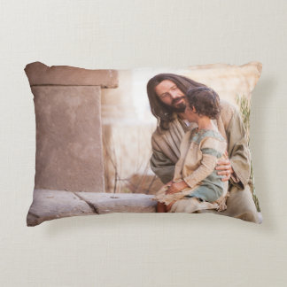 Suffer little children to eats grease me accent pillow