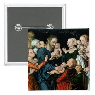 Suffer the Little Children to Come Unto Me, 1538 Pinback Button