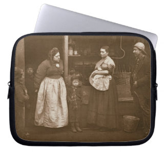 Sufferers from the Flood, from 'Street Life in Lon Laptop Sleeve