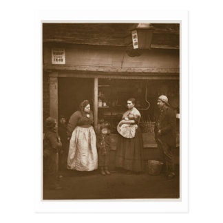 Sufferers from the Flood, from 'Street Life in Lon Postcard