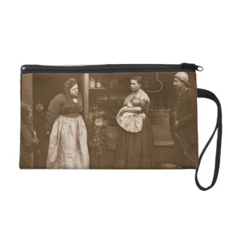 Sufferers from the Flood, from 'Street Life in Lon Wristlet Purse