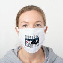 Sufferin' Succotash SYLVESTER™ Cut-Out White Cotton Face Mask