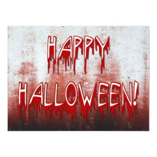 Suffering Happy Halloween Blood Stained Invitation