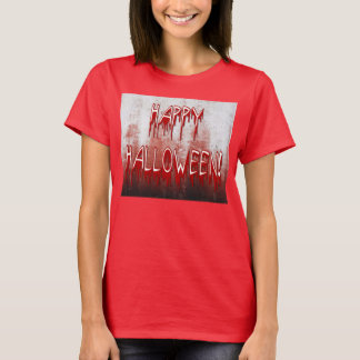 Suffering Happy Halloween Blood Stained Womens Tee