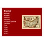 """Suffolck"" Suffolk County Map Business Card Templates"