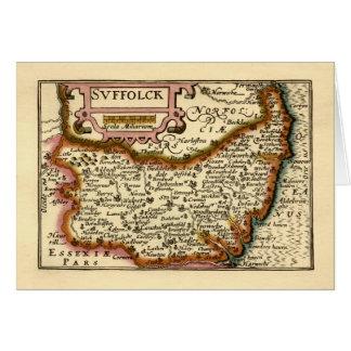 """""""Suffolck"""" Suffolk County Map Card"""
