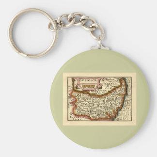 Suffolck Suffolk County Map Keychains