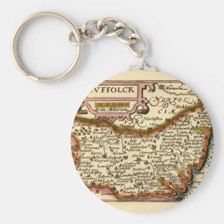 Suffolck Suffolk County Map Key Chain