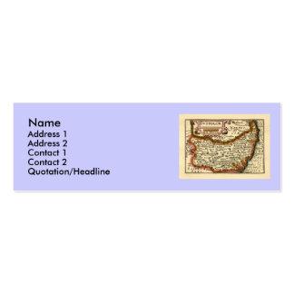 """""""Suffolck"""" Suffolk County Map Mini Business Card"""
