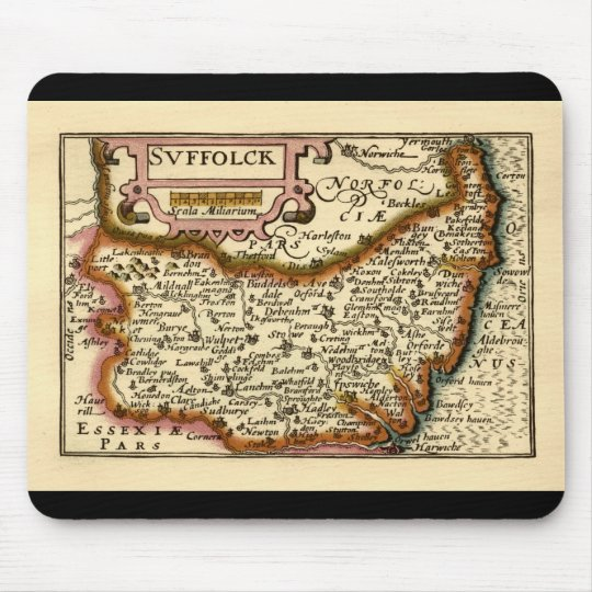 """""""Suffolck"""" Suffolk County Map Mouse Pad"""