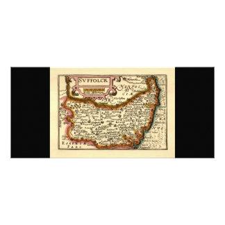 """""""Suffolck"""" Suffolk County Map Rack Card"""