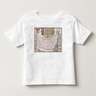 Suffolk and the situation of Ipswich Toddler T-shirt