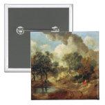 Suffolk Landscape, 1748 2 Inch Square Button