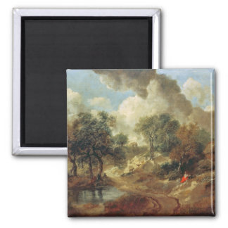 Suffolk Landscape, 1748 2 Inch Square Magnet