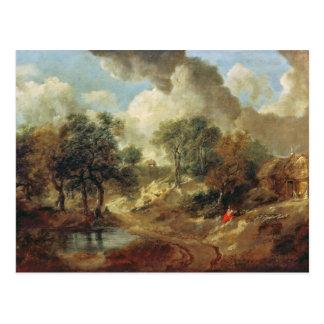 Suffolk Landscape, 1748 Postcard