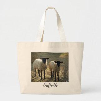 Suffolk Sheep Afternoon Sunlight Pastoral Scene Bag