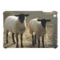 Suffolk Sheep Afternoon Sunlight Pastoral Scene iPad Mini Case