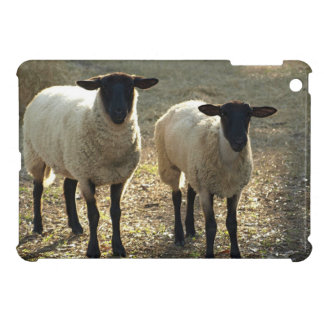 Suffolk Sheep Afternoon Sunlight Pastoral Scene iPad Mini Cover