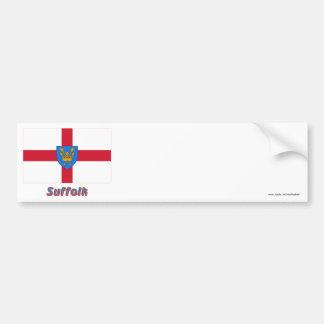 Suffolk St Edmund's Proposal Flag with Name Bumper Sticker