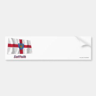 Suffolk St Edmund's Proposal Waving Flag with Name Bumper Sticker