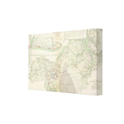 Suffolk & vicinity canvas print