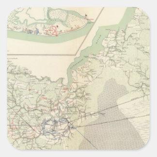 Suffolk y vecindad calcomanías cuadradass personalizadas
