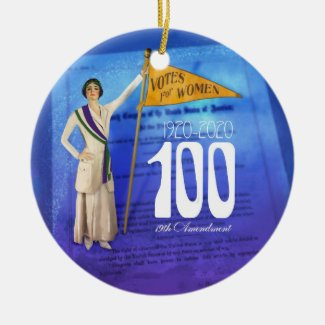 Suffrage Centennial Holiday Ornament