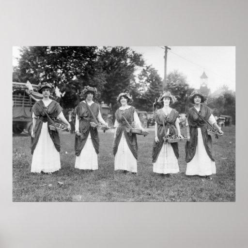 Suffrage Girls: 1913 Print