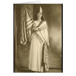 suffrage liberity lady greeting card