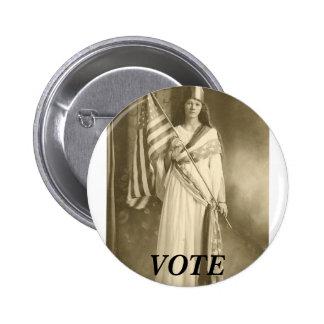 suffrage liberity lady, VOTE BUTTON