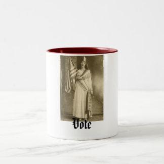 suffrage liberity lady, Vote mug