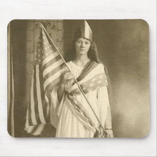 suffrage liberty lady mousepad