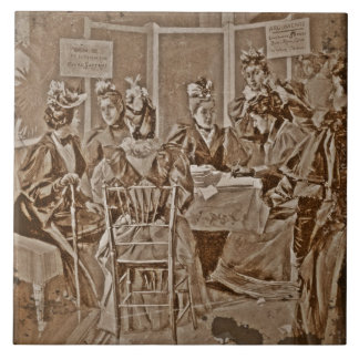 Suffrage Movement Meeting Ceramic Tile