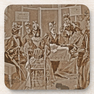 Suffrage Movement Meeting Drink Coaster