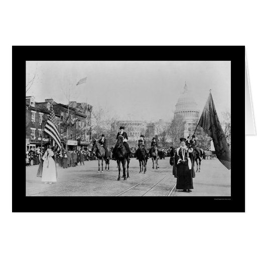 Suffrage Parade Washington, DC 1913 Greeting Cards
