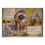 Suffrage Procession 1913 Greeting Card