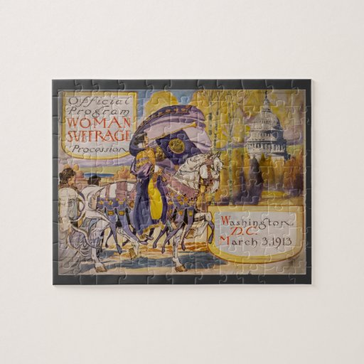 Suffrage Procession 1913 Jigsaw Puzzle