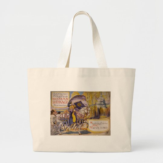 Suffrage Procession 1913 Large Tote Bag