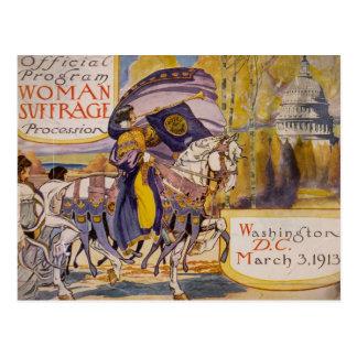 Suffrage Procession 1913 Postcard