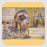 Suffrage Procession 1913 Square Sticker