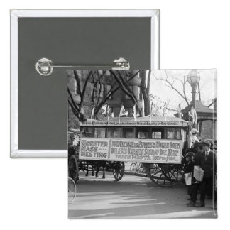 Suffrage Rally, 1919 2 Inch Square Button