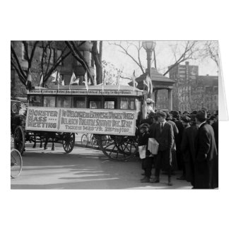 Suffrage Rally, 1919 Card