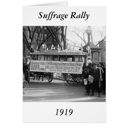 Suffrage Rally, 1919 Greeting Card
