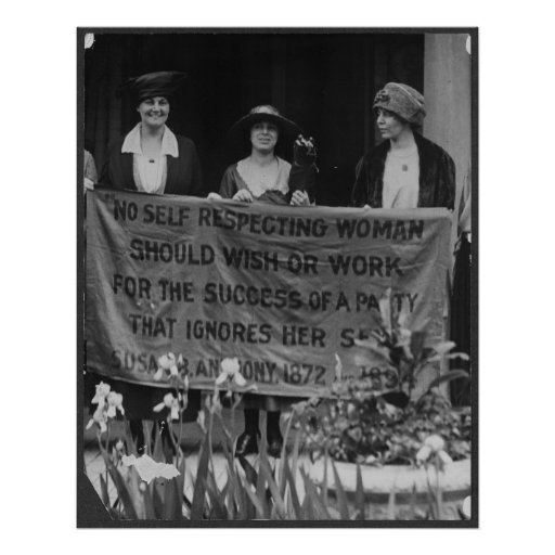 Suffrage Women Protesting for Their Right to Vote Poster